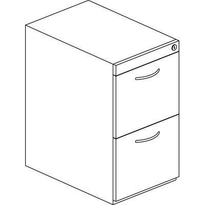 Mayline Group Corsica Series 2-Drawer Pedestal File