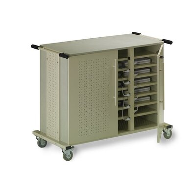 Mayline Group 24-Compartment Laptop Storage Cart