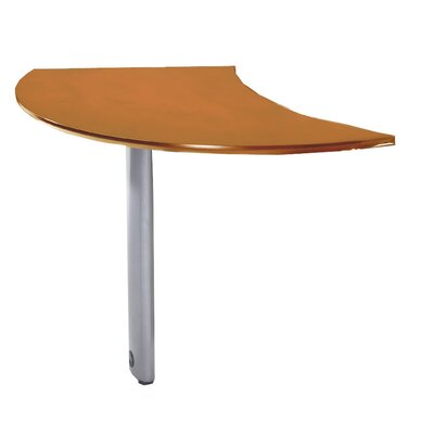 "Mayline Group Napoli Series 29.5"" H x 47"" W Curved Desk Extension"