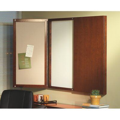 Mayline Group Sorrento Series Presentation Enclosed Magnetic Whiteboard, 4' x 4'