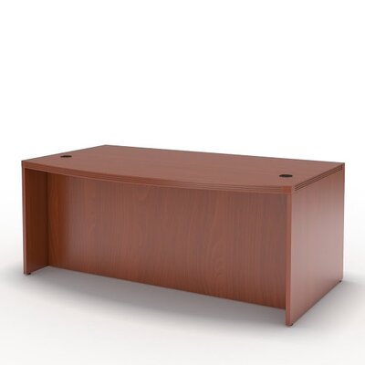 Mayline Group Aberdeen Series Bow Front Desk Shell