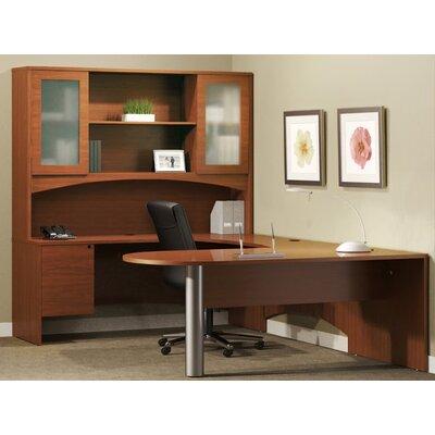 Mayline Group Brighton Series U-Shape Computer Desk with Hutch