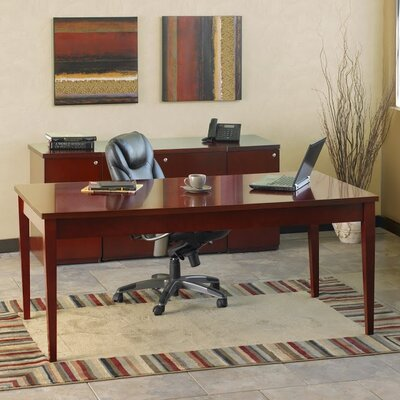 Mayline Group Luminary Series Writing Desk with 2 Pedestal Box