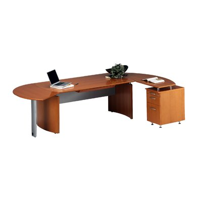 Mayline Group Napoli Series 3-Drawer Desk System Typical