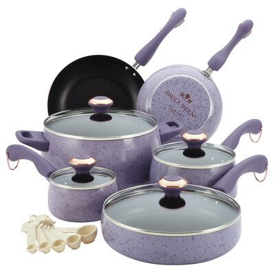 Signature Porcelain 15-Piece Cookware Set by Paula Deen