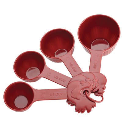 Paula Deen Signature Kitchen Tools 4 Piece Dry Melamine Measuring Cup Set