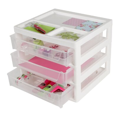 3 Drawer Scrapbook Storage Chest by IRIS