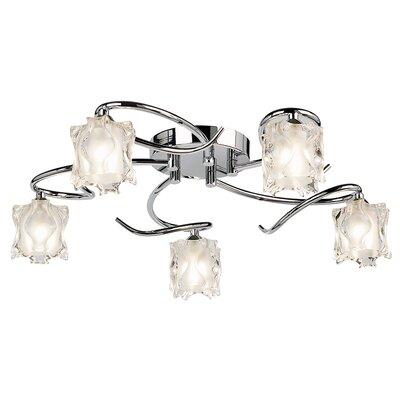 Endon Lighting Picado 5 Light Semi-Flush Ceiling Light