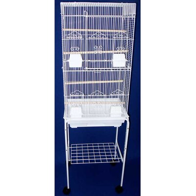 Tall Square Top Small Bird Cage with Stand by YML