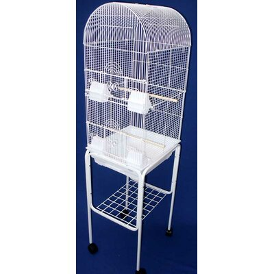 Tall Round 4 Perch Bird Cage with Stand by YML