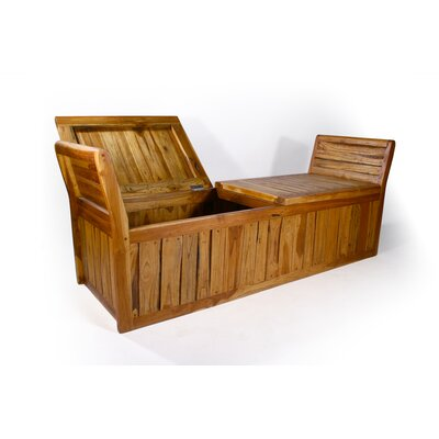 Teak Enclosed Inlay Bench by Strata Furniture