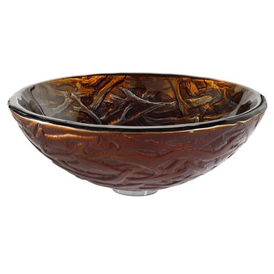 Kraus Dryad Glass Vessel Sink with Waterfall Faucet