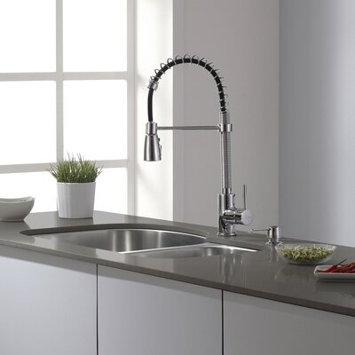 Single Handle Kitchen Faucet with Pull Down Hose Product Photo