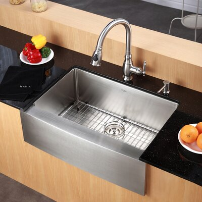 "Kraus Farmhouse 33"" x 20.75"" Kitchen Sink"