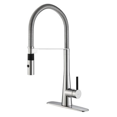Crespo™ Single Lever Commercial Style Kitchen Faucet with Flex Hose by Kraus