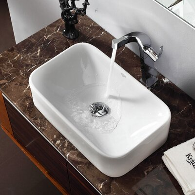 Kraus Bathroom Combos Single Hole Waterfall Typhon Faucet and Bathroom ...