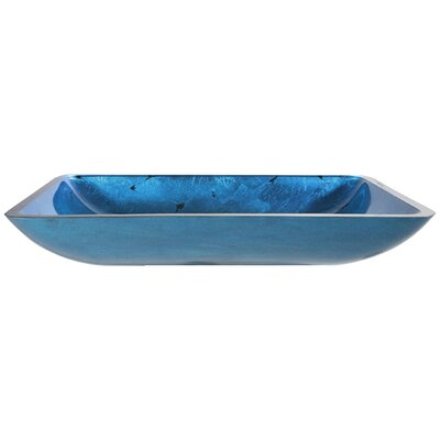 Galaxy Fire Rectangular Vessel Bathroom Sink Product Photo