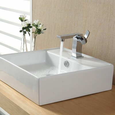 Bathroom Combos Bathroom Sink with Single Handle Single Hole Sonus Faucet Product Photo