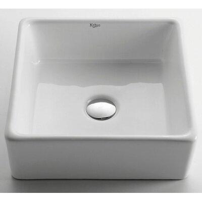 Ceramic Square Vessel Bathroom Sink Product Photo