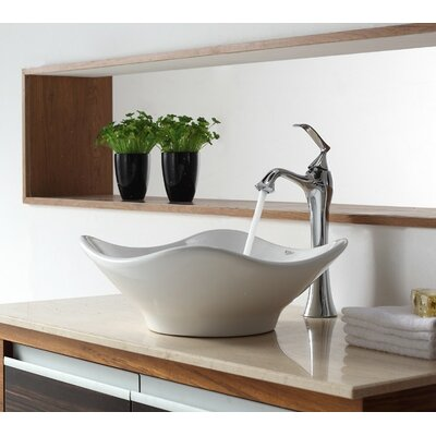 Bathroom Combos Bathroom Sink with Single Handle Single Hole Ventus Faucet Product Photo