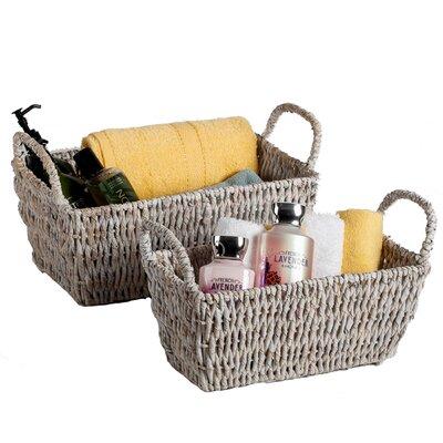 Martinique 2 Piece Rectangular Shelf Basket by Woodard & Charles
