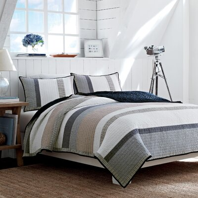Tideway Cotton Quilted Reversible Bedding Collection by Nautica