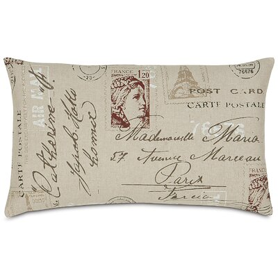 French Country Vintage Postcard Lumbar Pillow by Eastern Accents