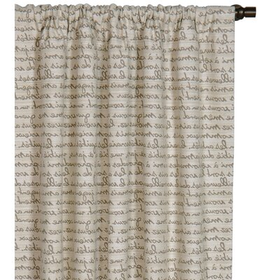 Eastern Accents Daphne Grenoble Cotton Rod Pocket Single Curtain Panel