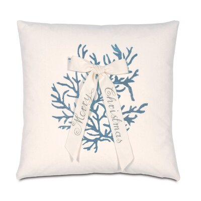 Eastern Accents Coastal Tidings Coral Christmas Throw Pillow