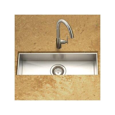 "Contempo 23"" x 8.5"" Zero Radius Undermount Trough Bar Sink Product Photo"