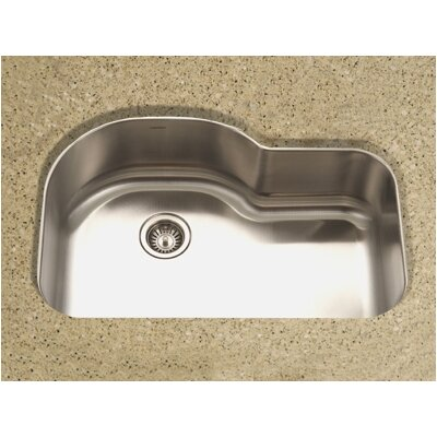 "Medallion Designer 31.5"" x 17.94 - 21"" Undermount Offset Single Bowl Kitchen Sink Product Photo"