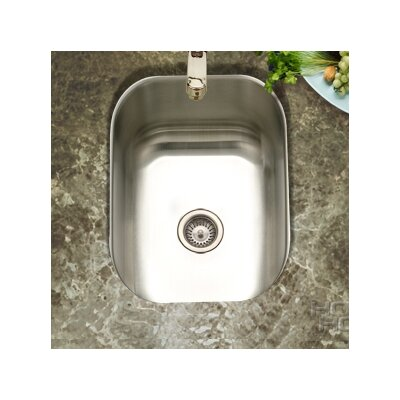 "Club 12.44"" x 14.69"" Undermount Small Bar Sink Product Photo"