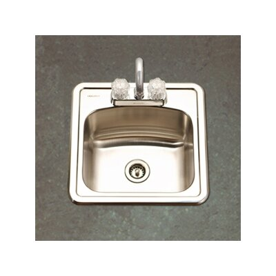 "Hospitality 15"" x 15"" Topmount 19 Gauge Bar Sink Product Photo"