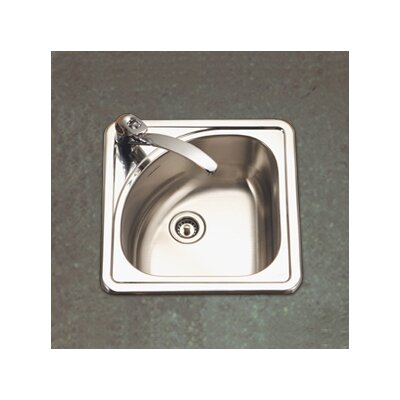 "Hospitality 15"" x 15"" Topmount Corner Bar Sink Product Photo"