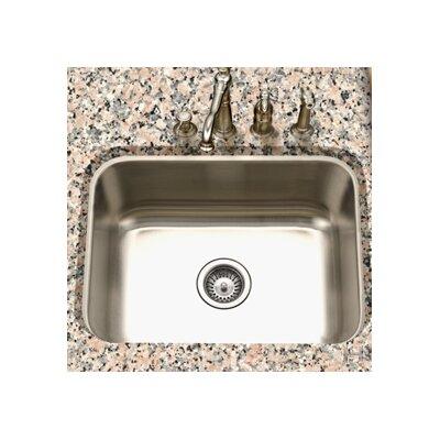 """Houzer Eston 23"""" x 17.75"""" Undermount Rectangular Single Bowl Kitchen Sink"""