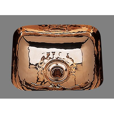 "Sculptured Metals 14"" x 12.25"" Hammertone Rectangular Bar Sink Product Photo"