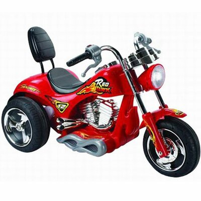 Big Toys Red Hawk 12V Battery Powered Motorcycle Big Toys