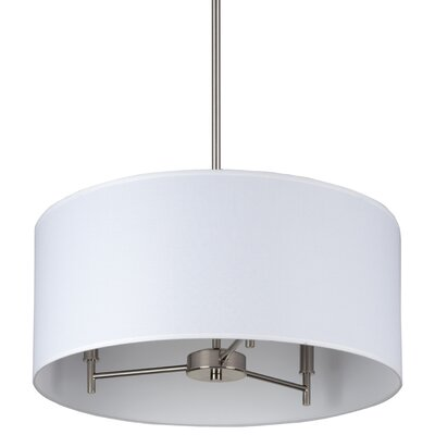 Walker 3 Light Chandelier with Drum Shade Product Photo