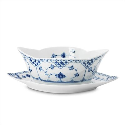 Royal Copenhagen Blue Fluted Half Lace 13.5 oz. Sauce Boat