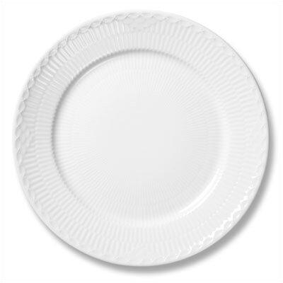 "Royal Copenhagen White Half Lace 8.75"" Lunch / Dessert Plate"