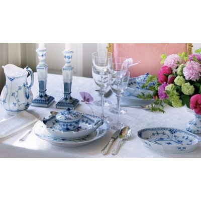 Blue Fluted Half Lace Dinnerware Collection by Royal Copenhagen
