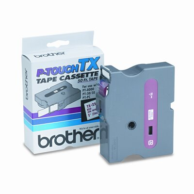 Brother TX2521 P-Touch Tape Cartridge for Pt-8000, Pt-Pc, Pt-30/35, 1W
