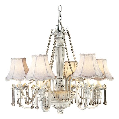 Kie Chateau Brittany 6 Light Crystal Chandelier by Pacific Coast Lighting