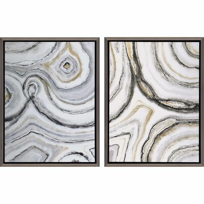Shades of Gray by Jardine 2 Piece Framed Painting Print Set by Paragon