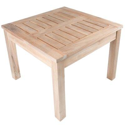 Arbora Teak Nantucket Solid Teak Square Side Table