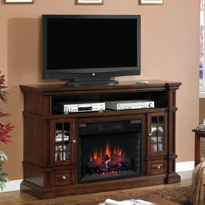 Belmont TV Stand with Electric Fireplace by Classic Flame