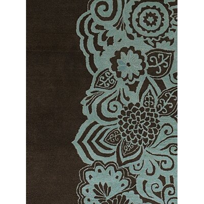 Chandra Rugs Aschera Blue/Black Area Rug