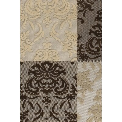 Chandra Rugs Calcutta Brown & White Indoor/Outdoor Area Rug