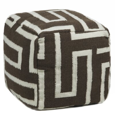 Textured Contemporary Pouf Ottoman by Chandra