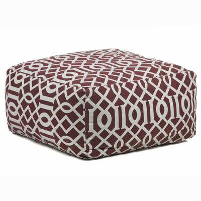 Textured Contemporary Printed Pouf Ottoman by Chandra